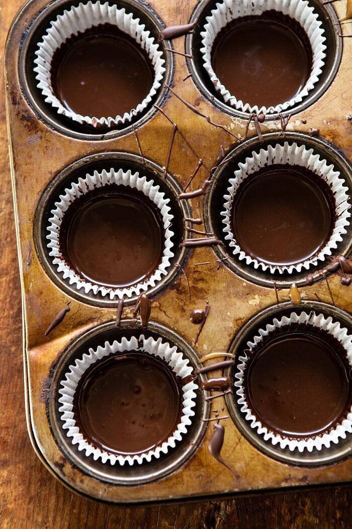 overhead photo of Milk Chocolate before it's cooled