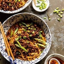 Better Than Takeout Dan Dan Noodles | halfbakedharvest.com #asian #takeout #easyrecipes #dinner
