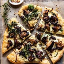 French Onion Mushroom Pizza.