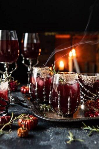 Sleepy Hollow Cocktail | halfbakedharvest.com #halloween #cocktails #tequila