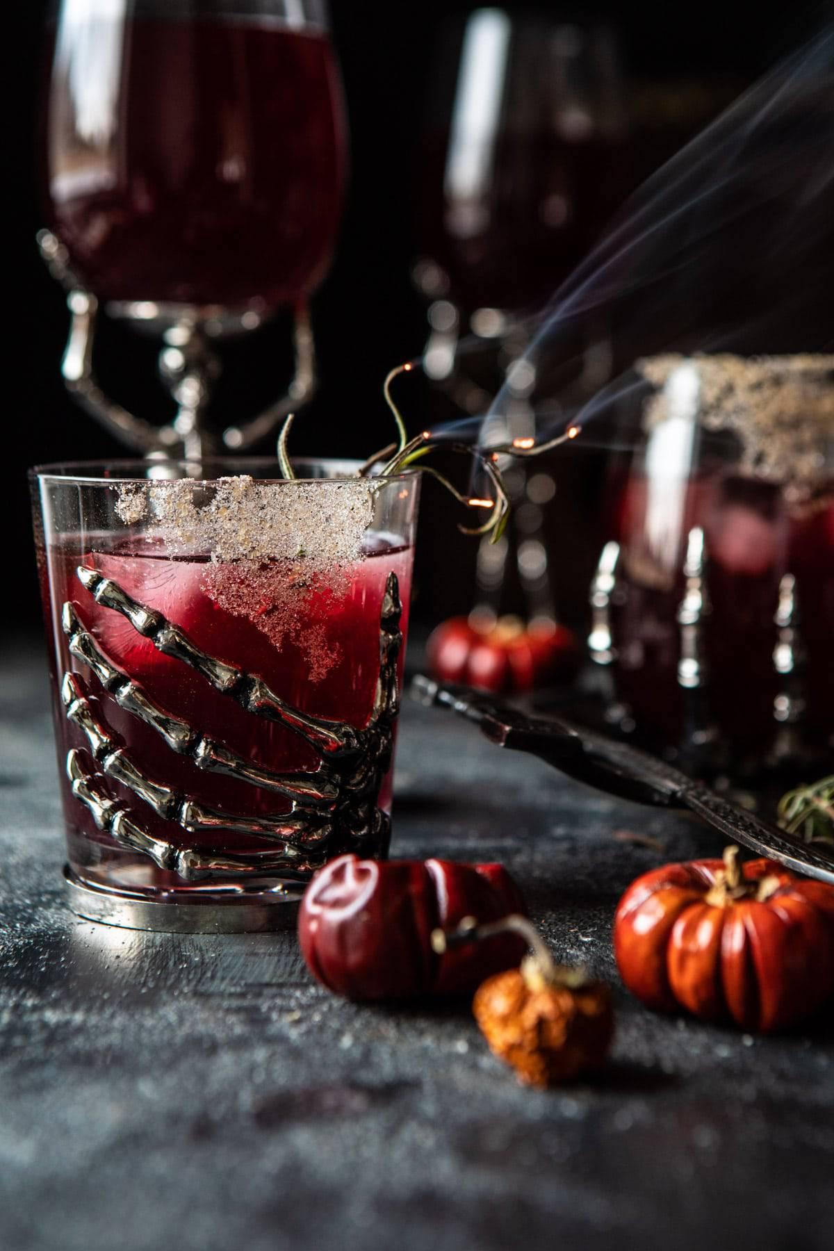 Sleepy Hollow Cocktail   halfbakedharvest.com #halloween #cocktails #tequila