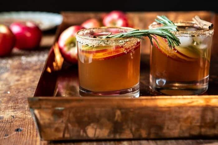 horizontal photo of Smoky Harvest Apple Cider Margarita