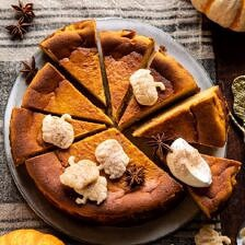 Burnt Basque Pumpkin Spice Cheesecake.
