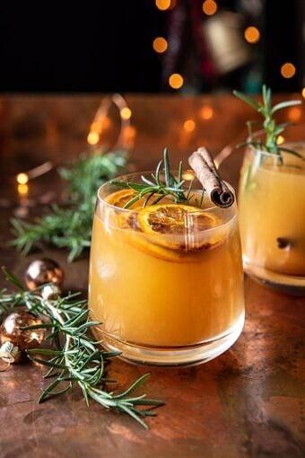 Cinnamon Bourbon Old Fashioned | halfbakedharvest.com #bourbon #cocktail