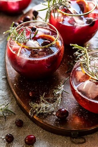 Cranberry Bourbon Sour | halfbakedharvest.com #bourbon #thanksgiving #cocktails #holiday #christmas