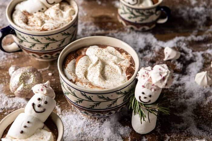 horizontal photo of Creamy Coconut Hot Chocolate