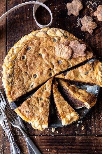 Gooey Chocolate Chip Cookie Pumpkin Pie.