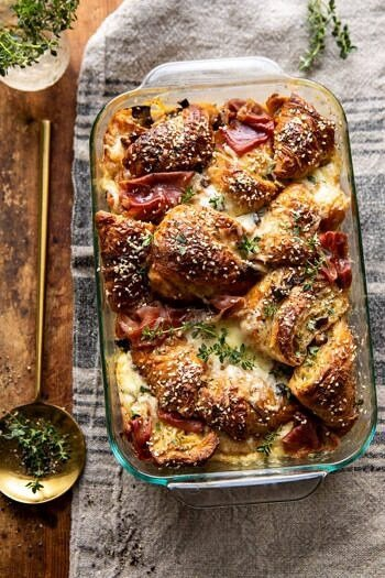 Ham and Cheese Croissant Bake.