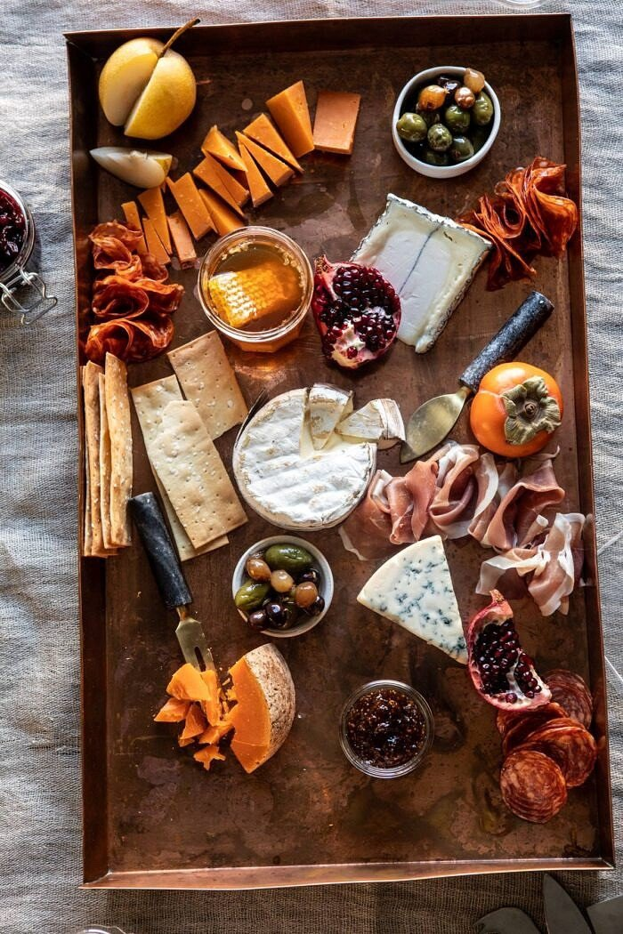 How to Make an Easy Holiday Cheese Board | halfbakedharvest.com #cheeseboard #appetizers #christmas #thanksgiving