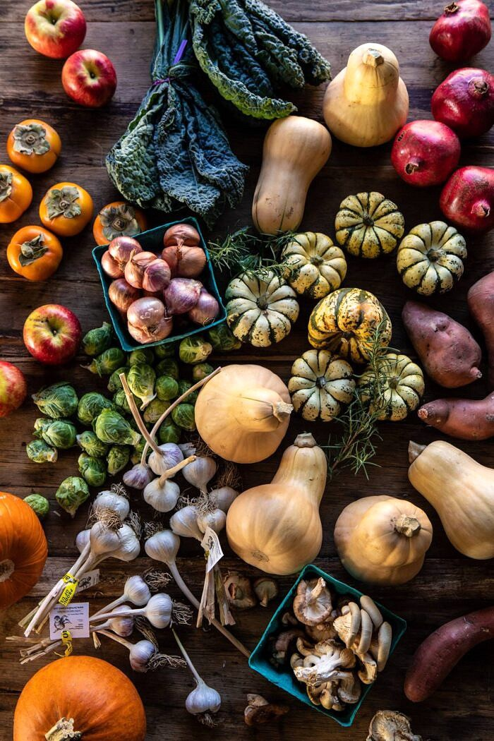 raw produce shot