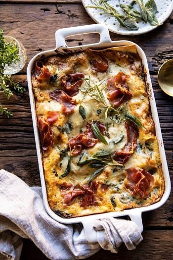 Roasted Butternut Squash and Spinach Lasagna.
