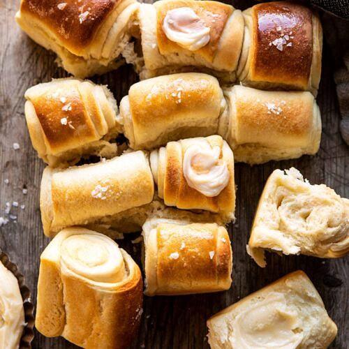 Salted Honey Butter Parker House Rolls Half Baked Harvest