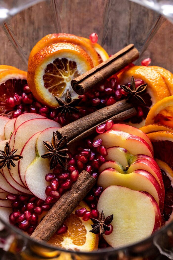 raw fruit and spices before adding wine