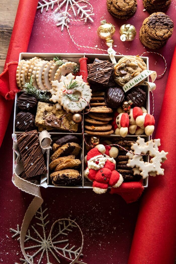 overhead photo of 2019 Holiday Cookie Box