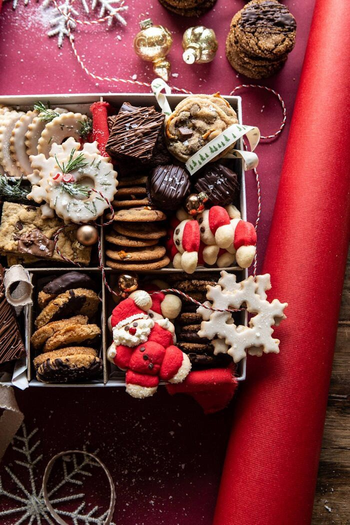 side angled photo of 2019 Holiday Cookie Box