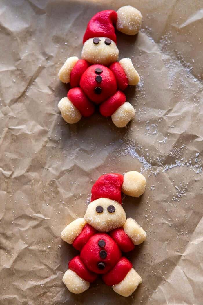 Holly Jolly Santa Cookies before baking