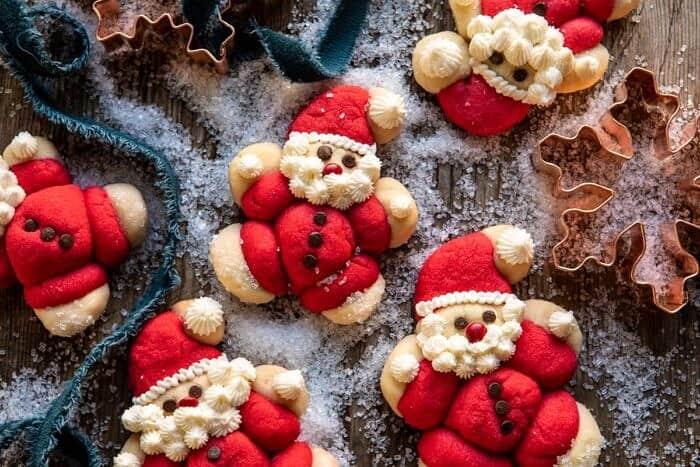 horizontal photo of Holly Jolly Santa Cookies