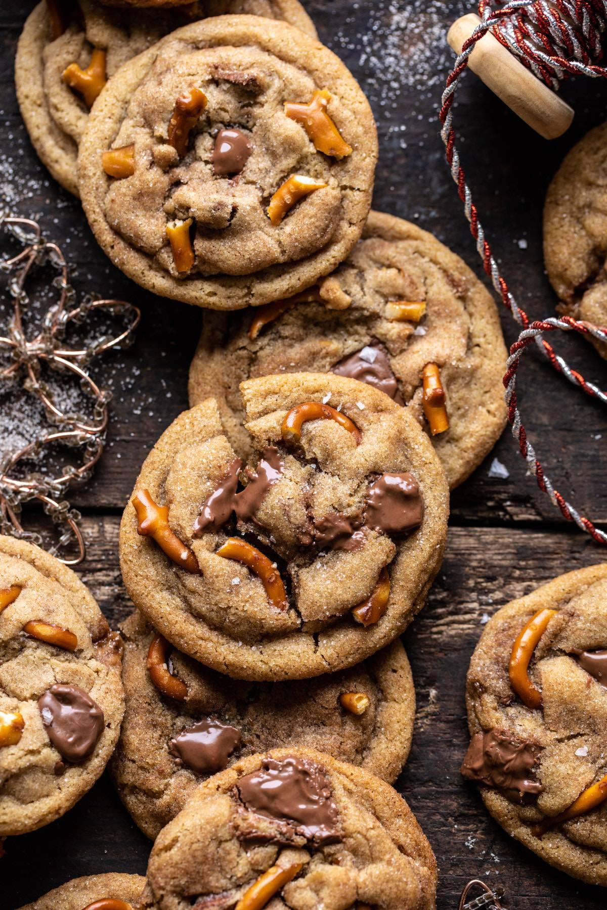 Salted Caramel Pretzel Snickerdoodles Half Baked Harvest