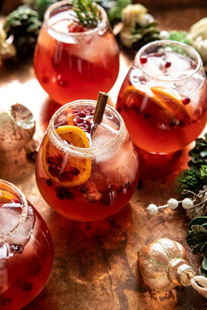 side angled close up photo of Sparkling Christmas Party Punch