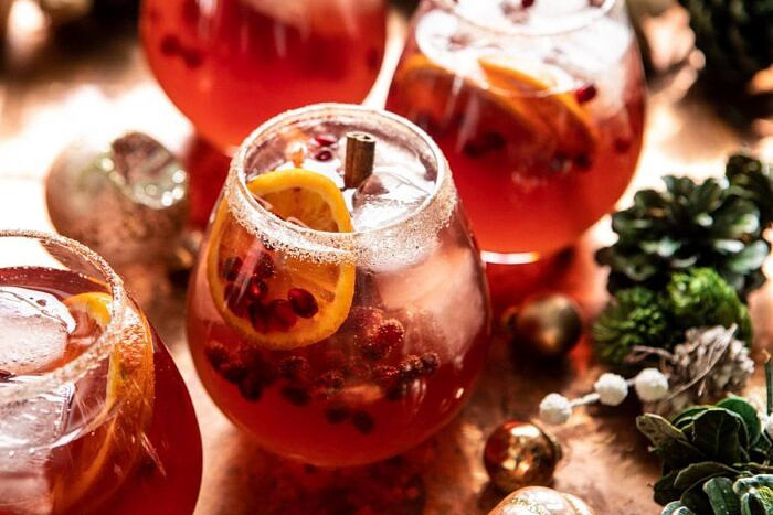 horizontal photo of Sparkling Christmas Party Punch
