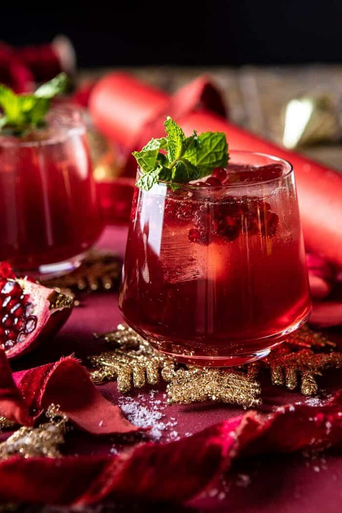 The Santa Clause Smash | halfbakedharvest.com #christmasdrink #bourbon #cocktail