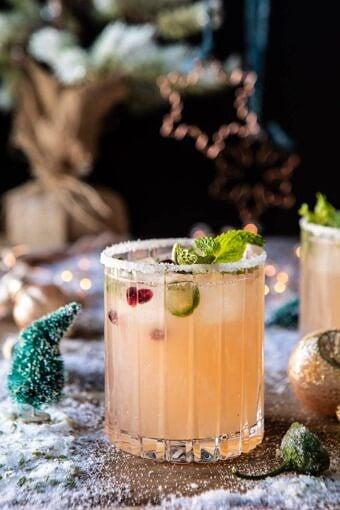 The Spicy Sweet Grinch Cocktail | halfbakedharvest.com #thegrinch #christmasdrinksaturday #vodka