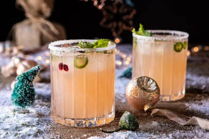 horizontal photo of The Spicy Sweet Grinch Cocktail