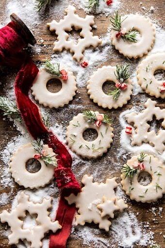Vanilla Wreath Cookies | halfbakedharvest.com #cookies #Christmas #easyrecipes