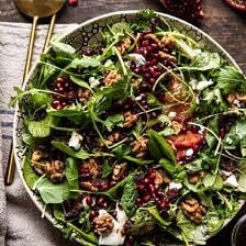Winter Pomegranate Salad with Maple Candied Walnuts.