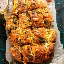 Buffalo Ranch Chicken Pull Apart Bread.