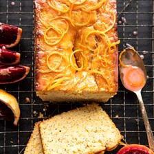 Lemon Poppy Seed Cake with Citrus Honey Glaze.