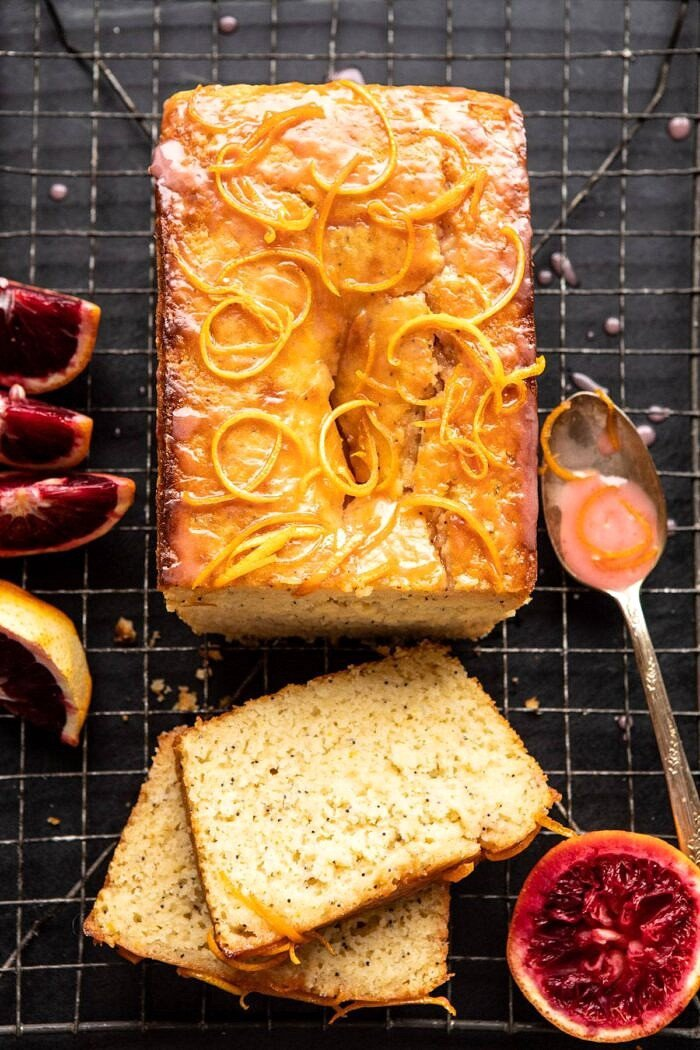 Lemon Poppy Seed Cake with Citrus Honey Glaze.