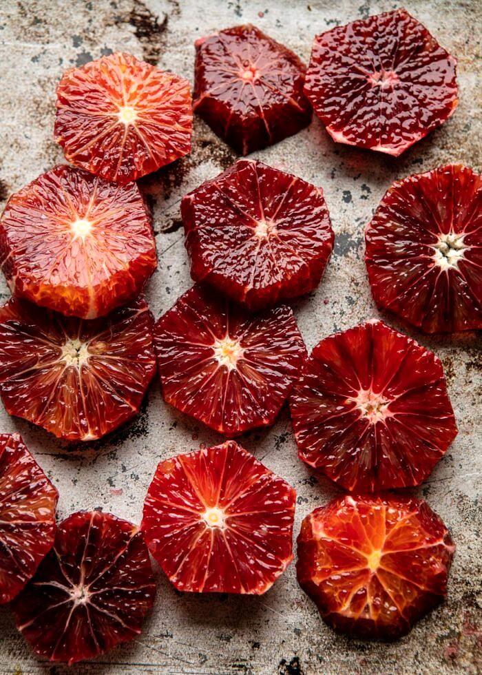 raw blood oranges
