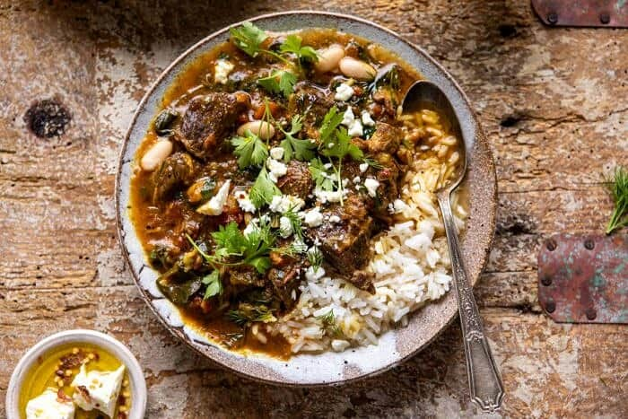 horizontal photo of Persian Herb and Beef Stew