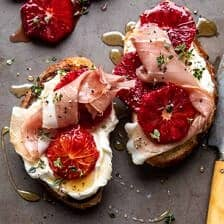 Simplest Whipped Ricotta Toast with Lemon Thyme Honey.