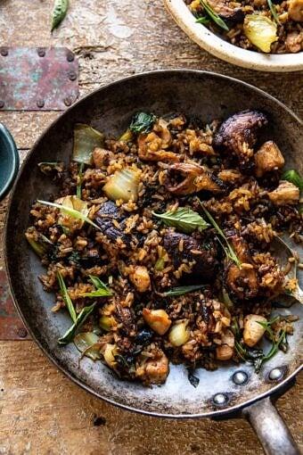 Better Than Takeout Sesame Ginger Chicken Fried Rice | halfbakedharvest.com