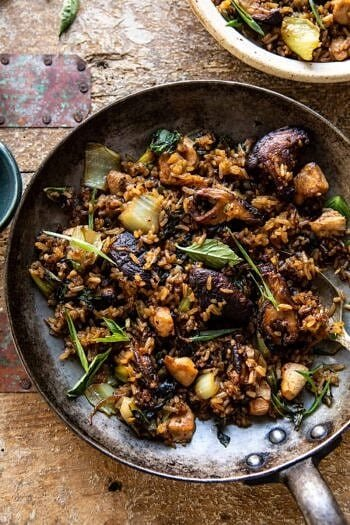 Better Than Takeout Sesame Ginger Chicken Fried Rice.