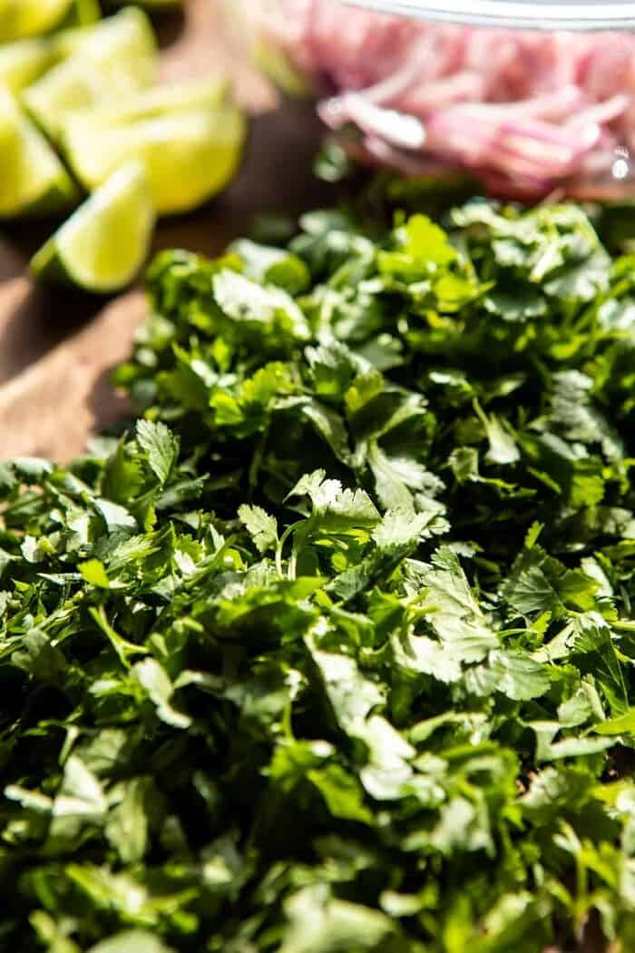 photo of raw cilantro