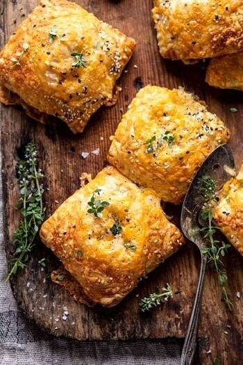Flaky Broccoli Cheddar Soup Mini Pies.
