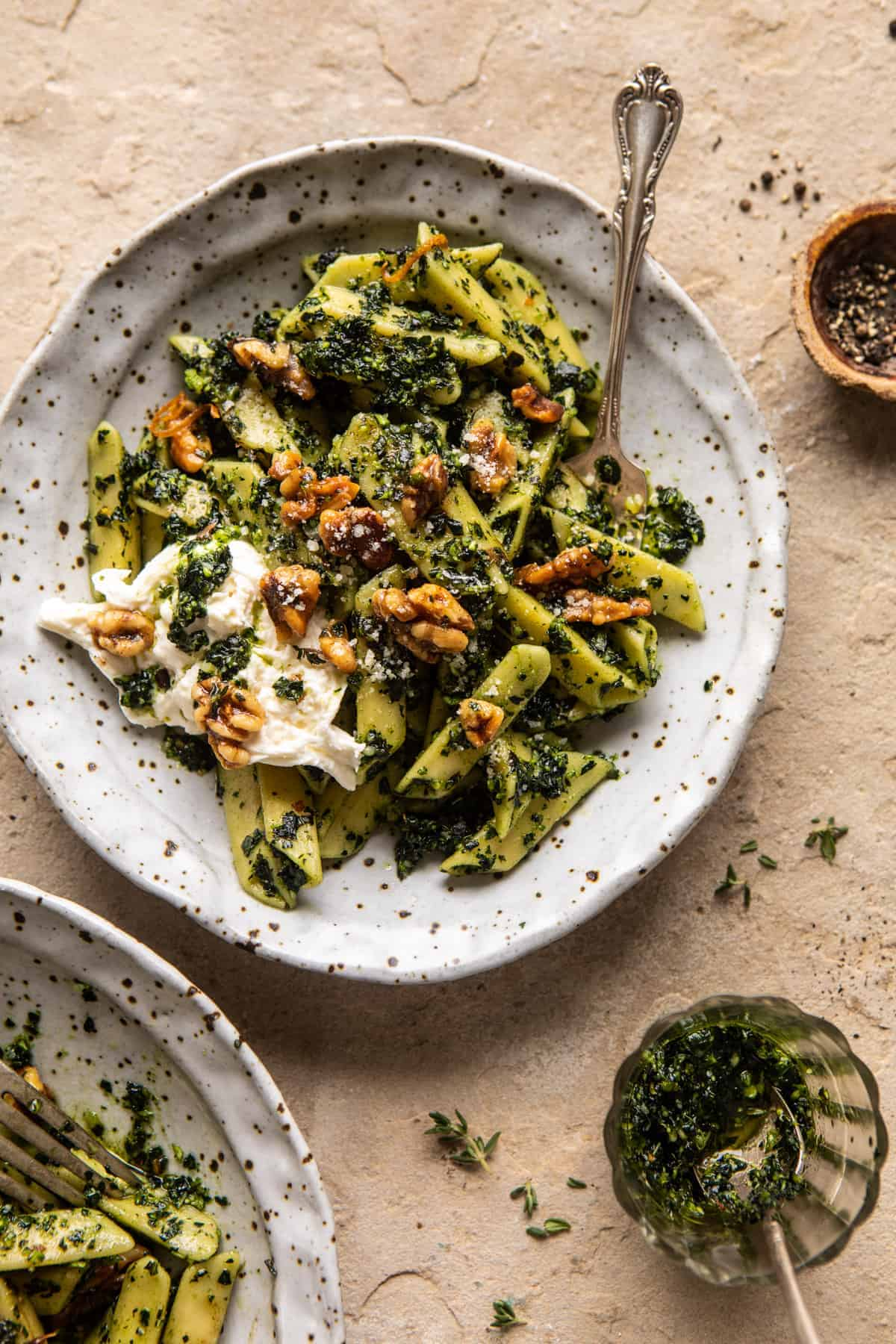 Herby Kale Pesto Pasta With Buttery Walnuts Half Baked Harvest
