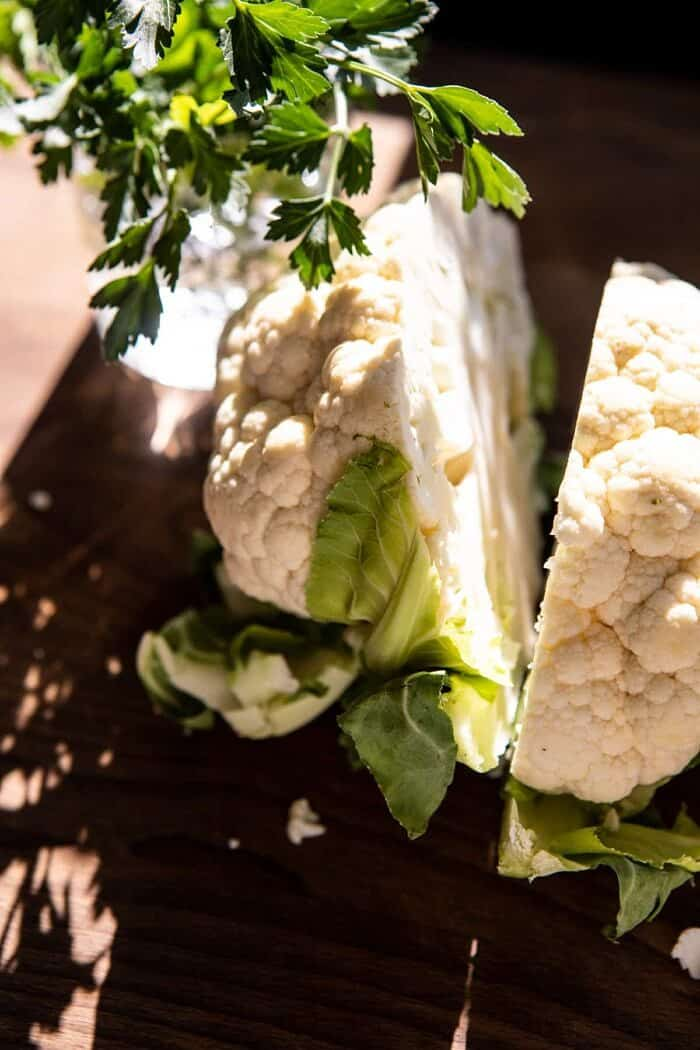 raw cauliflower head