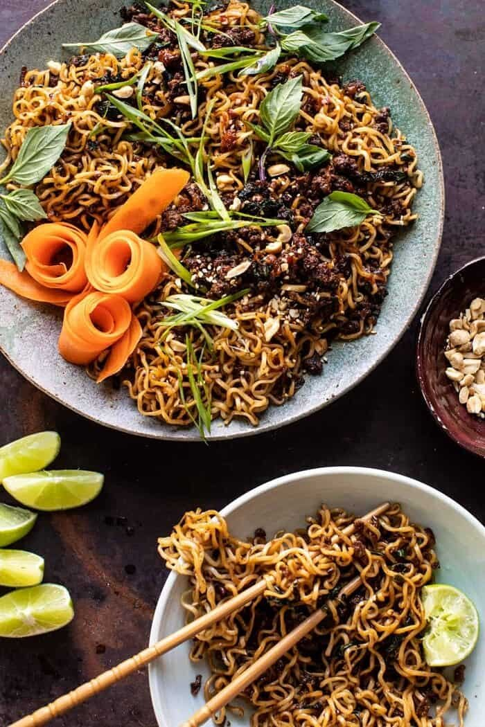 30 Minute Caramelized Shallot Beef Ramen Noodles | halfbakedharvest.com