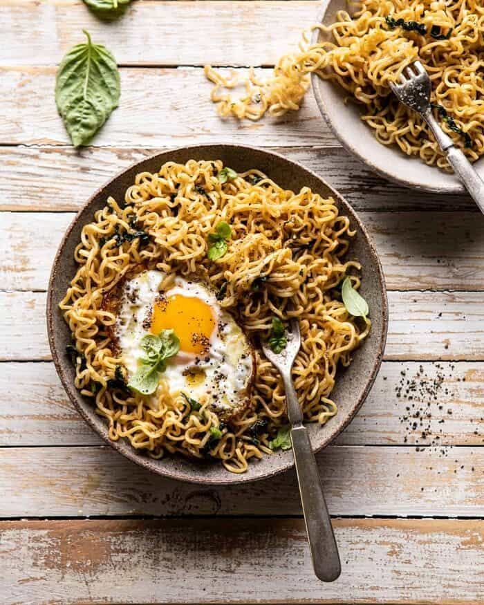 15 Minute Garlic Butter Ramen Noodles | halfbakedharvest.com