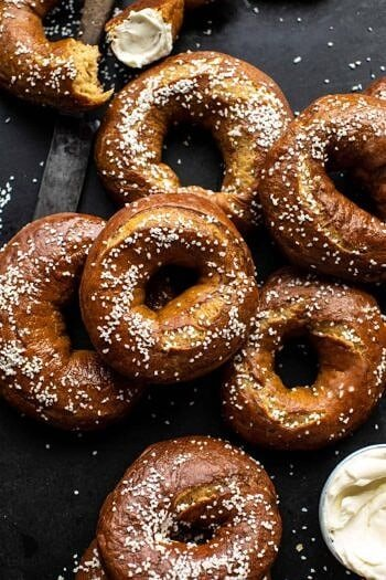 Easy Homemade Pretzel Bagels.
