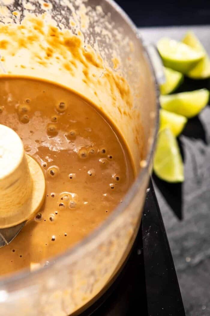 prep photo of tahini sauce in bowl
