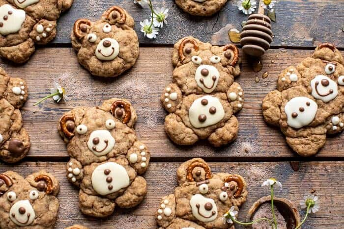 horizontal photo of Sweet and Salty Teddy Bear Snickerdoodles