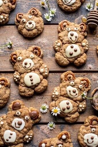 Sweet and Salty Teddy Bear Snickerdoodles | halfbakedharvest.com
