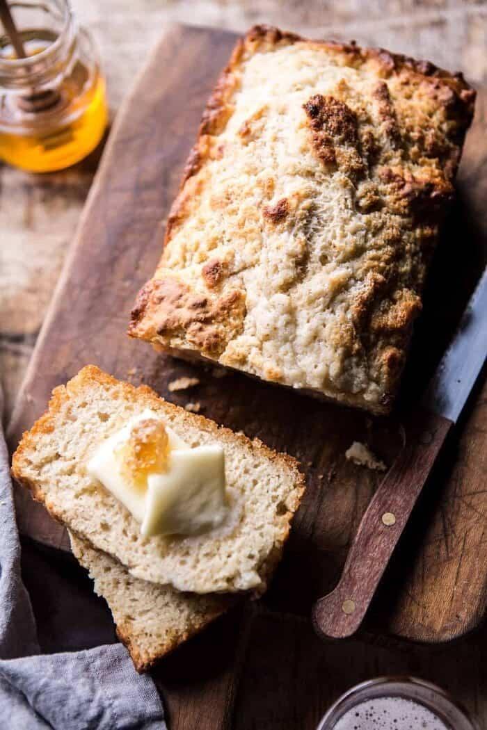 5 Ingredient Honey Butter Beer Bread | halfbakedharvest.com