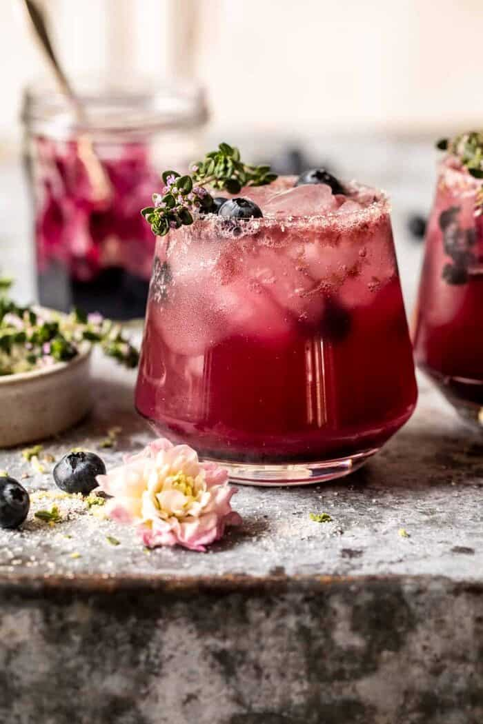 Blueberry Lemon Thyme Smash | halfbakedharvest.com