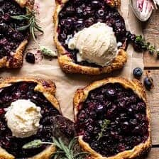 Bursting Blueberry Lemon Thyme Tarts.